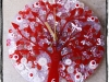 Red and White Tree of Life Clock
